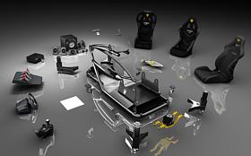 Vesaro Modular Design, Cobra Seats, Buttkicker Advance BKA300, D-Box Motion Physics System, Logitech Z906, Thrustmaster T500RS, Fanatec