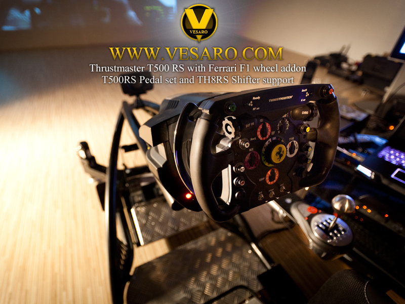 Vesaro Racing Rig Thrustmaster T500RS F1 Wheel, pedals and TH8RS Shifter support