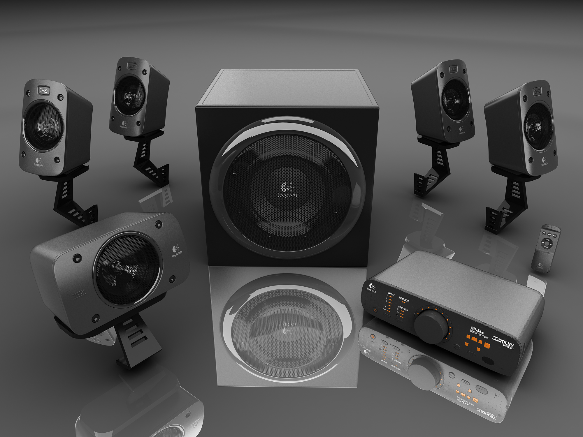 Audio System 5 1 Thx Surround Sound Logitech Z906
